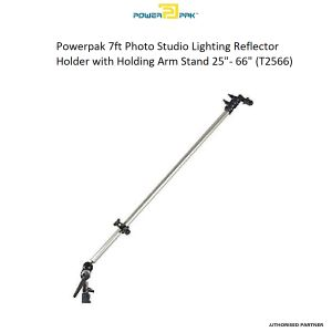 """Picture of Powerpak 7ft Photo Studio Lighting Reflector Holder with Holding Arm Stand 25""""- 66"""" (T2566)"""