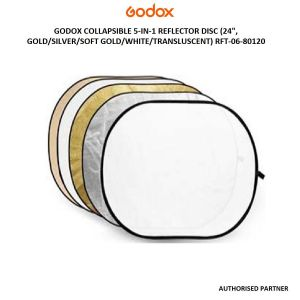 Picture of Godox Collapsible 5-In-1 Reflector Disc ( Gold/Silver/Soft Gold/White/Translucent)