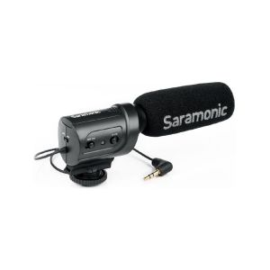 Picture of Saramonic SR-M3 Mini Directional Condenser Microphone with Integrated Shockmount
