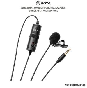 Picture of Boya BYM1 Omnidirectional Lavalier Condenser Microphone