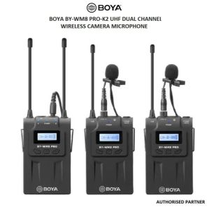 Picture of Boya BY-WM8 Pro-K2 UHF Dual-Channel Wireless Microphone System