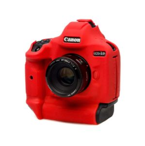 Picture of EasyCover Silicone Protection Cover for Canon EOS-1Dx/ 1DX MARK II /1 DX MARK III RED
