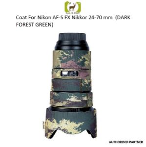 Picture of Coat For Nikon AF-S FX Nikkor 24-70 mm f/2.8E ED (DARK FOREST GREEN)