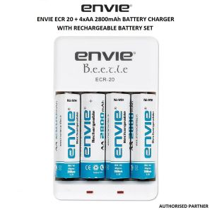 Picture of Envie ECR 20 + 4xAA 2800mAh Battery Charger with Rechargeable Battery Set