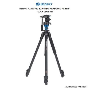 Picture of Benro A1573FS2 S2 Video Head and AL Flip Lock Legs Kit