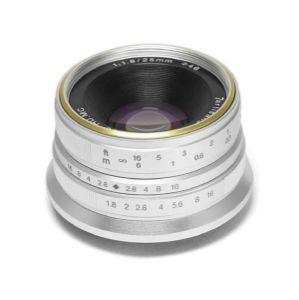 Picture of 7artisans Photoelectric 25mm f/1.8 Lens for Canon EF-M (Silver)