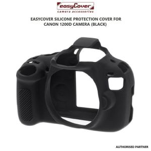 Picture of EasyCover Silicone Protection Cover for Canon 1200D Camera (Black)