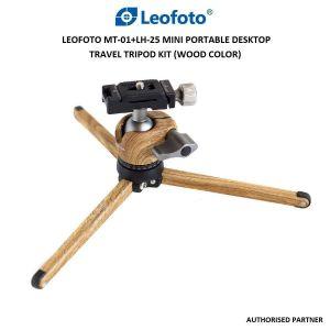 Picture of Leofoto MT-01+LH-25 Mini Portable Desktop Travel Tripod Kit (Wood Color)