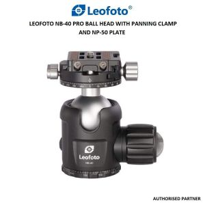 Picture of Leofoto NB-40 Pro Ball Head with Panning Clamp and NP-50 Plate
