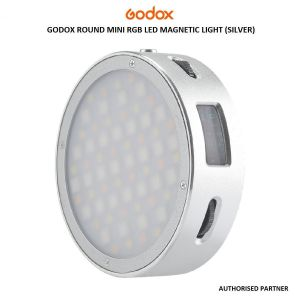 Picture of Godox Round Mini RGB LED Magnetic Light (Silver)