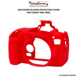 Picture of easyCover Silicone Protection Cover for Canon EOS 760D (Red)