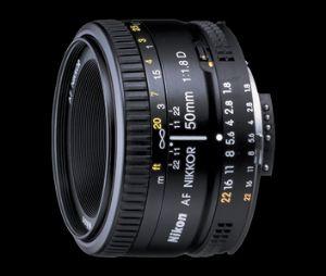 Picture of Nikon AF Nikkor 50 mm f/1.8D Lens  (Black)