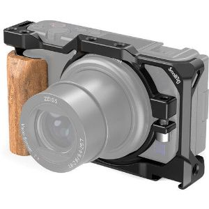 Picture of SmallRig 2937 Cage with Wooden Handgrip for Sony ZV1 Camera