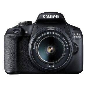 Picture of Canon EOS 1500D Digital SLR Camera (Black) with EF S18-55 is II Lens