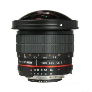 Picture of Samyang 8mm f/3.5 HD Fisheye Lens with AE Chip and Removable Hood for Nikon